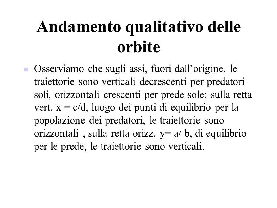 Andamento qualitativo delle orbite