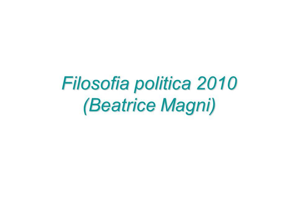 Filosofia politica 2010 (Beatrice Magni)