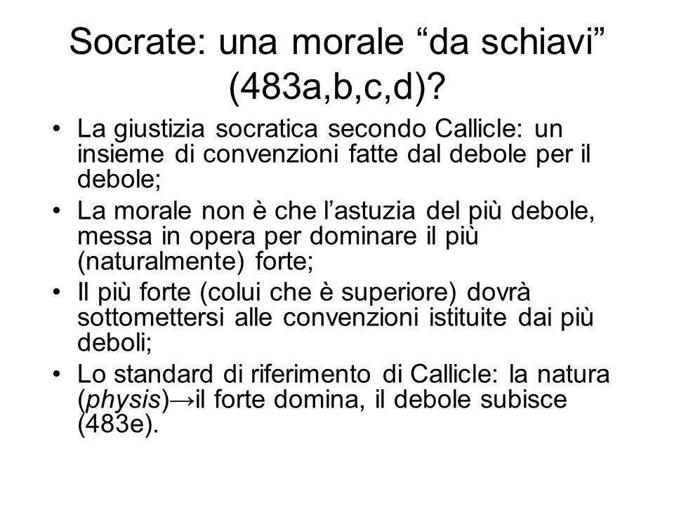 Socrate: una morale da schiavi (483a,b,c,d)