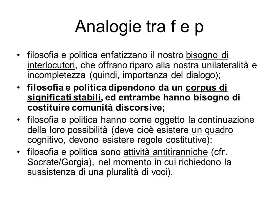 Analogie tra f e p