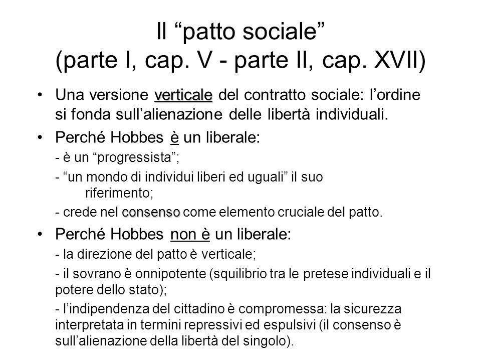 Il patto sociale (parte I, cap. V - parte II, cap. XVII)