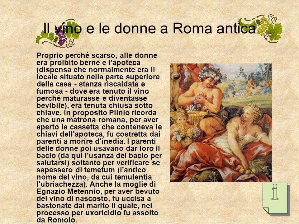 Il vino e le donne a Roma antica