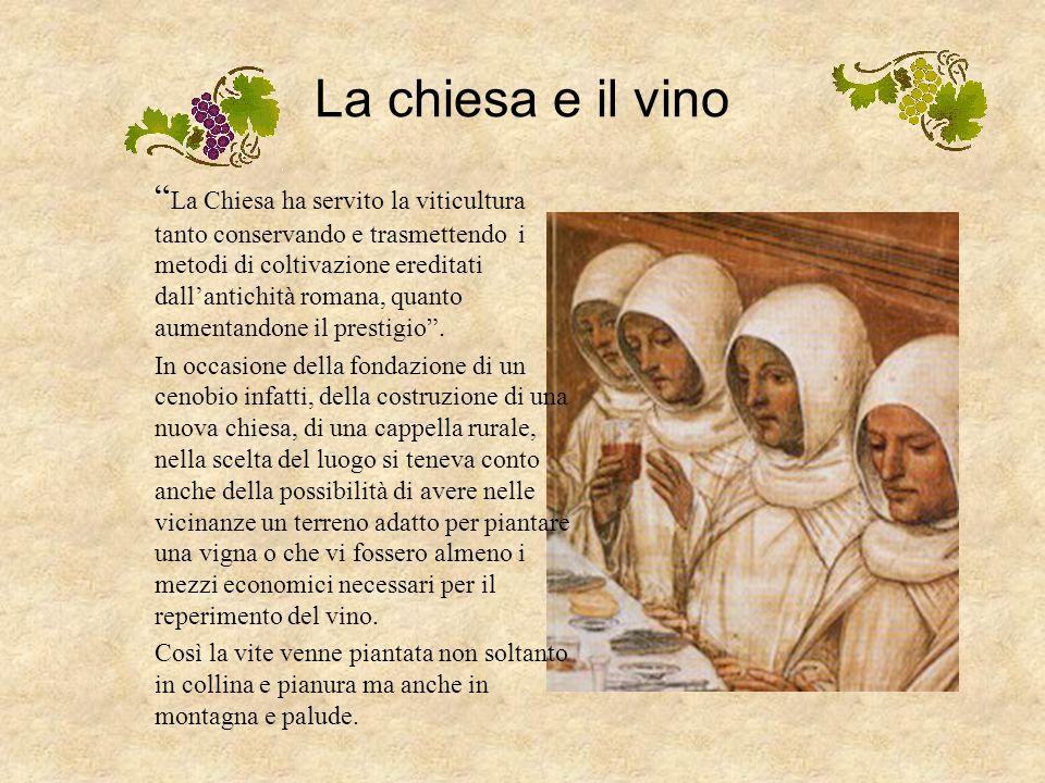 La chiesa e il vino