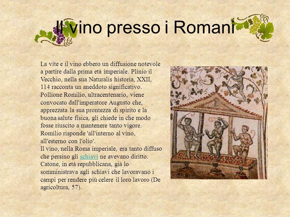 Il vino presso i Romani