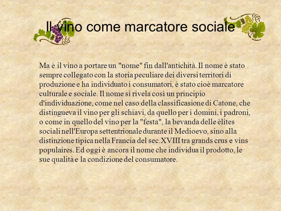 Il vino come marcatore sociale