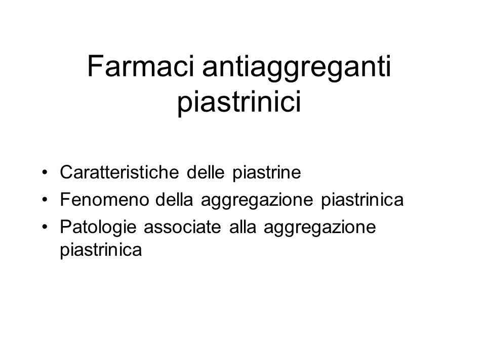 Farmaci antiaggreganti piastrinici