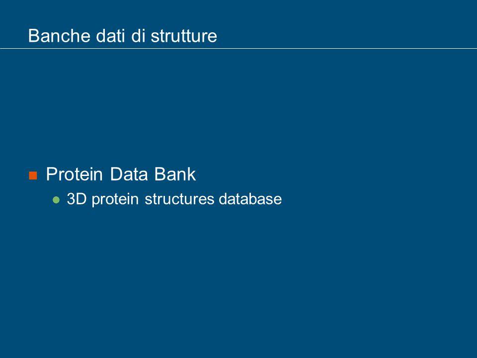 Banche dati di strutture