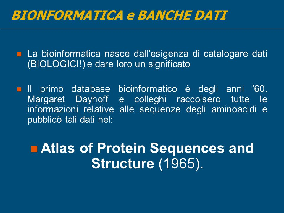 Atlas of Protein Sequences and Structure (1965).