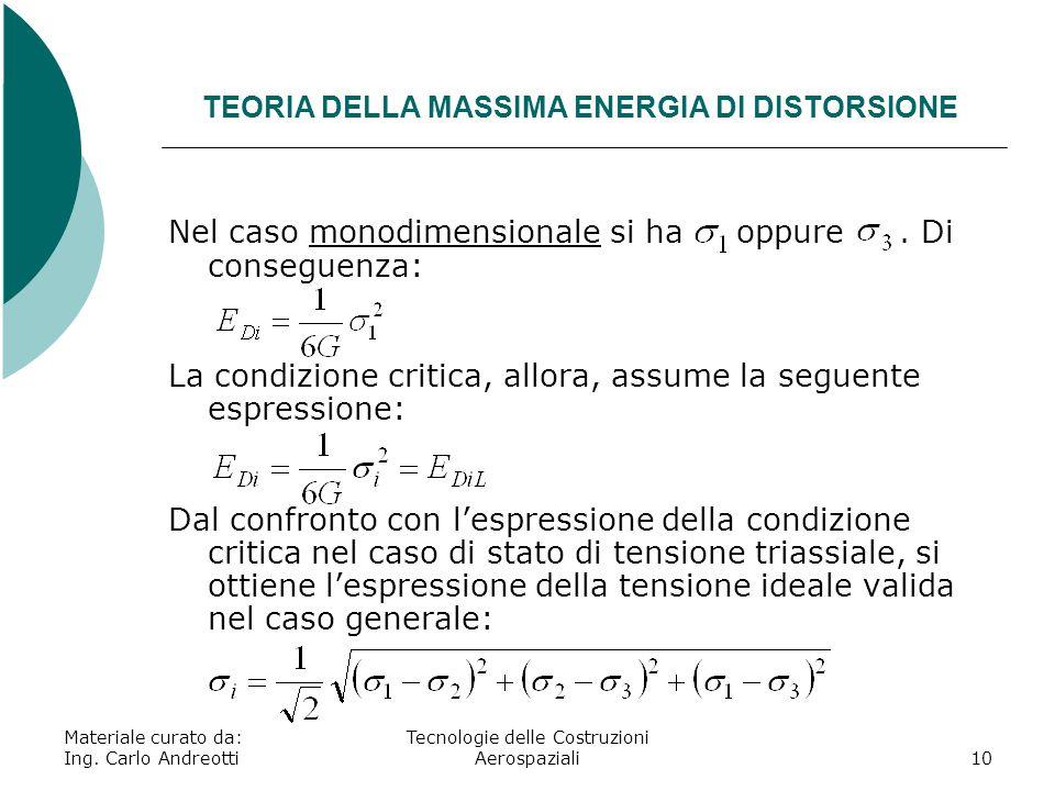 TEORIA DELLA MASSIMA ENERGIA DI DISTORSIONE
