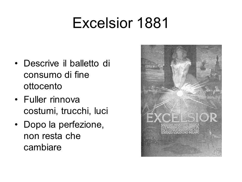 Excelsior 1881 Descrive il balletto di consumo di fine ottocento