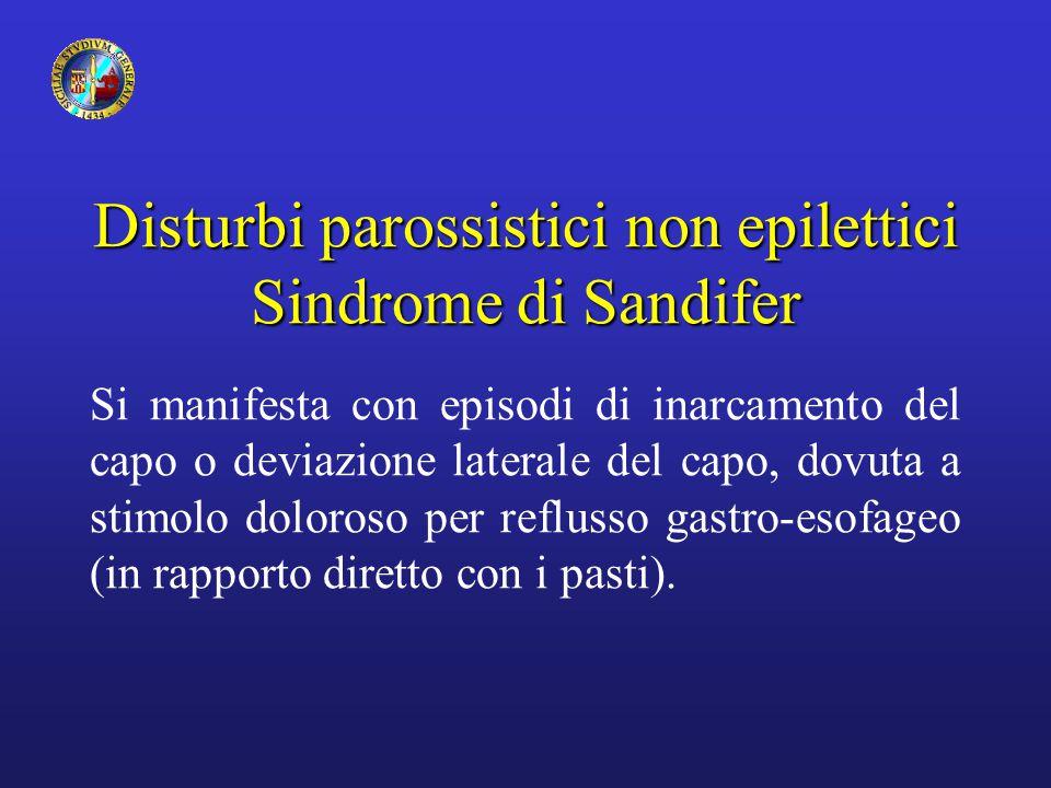 Disturbi parossistici non epilettici Sindrome di Sandifer