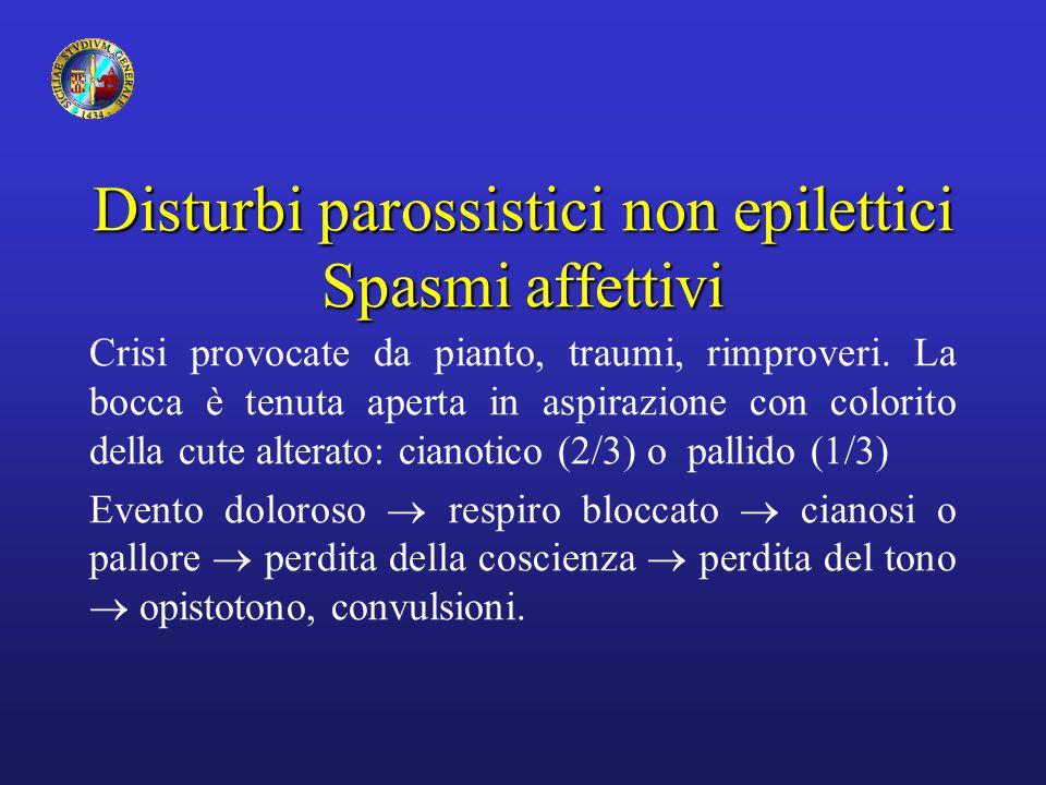 Disturbi parossistici non epilettici Spasmi affettivi