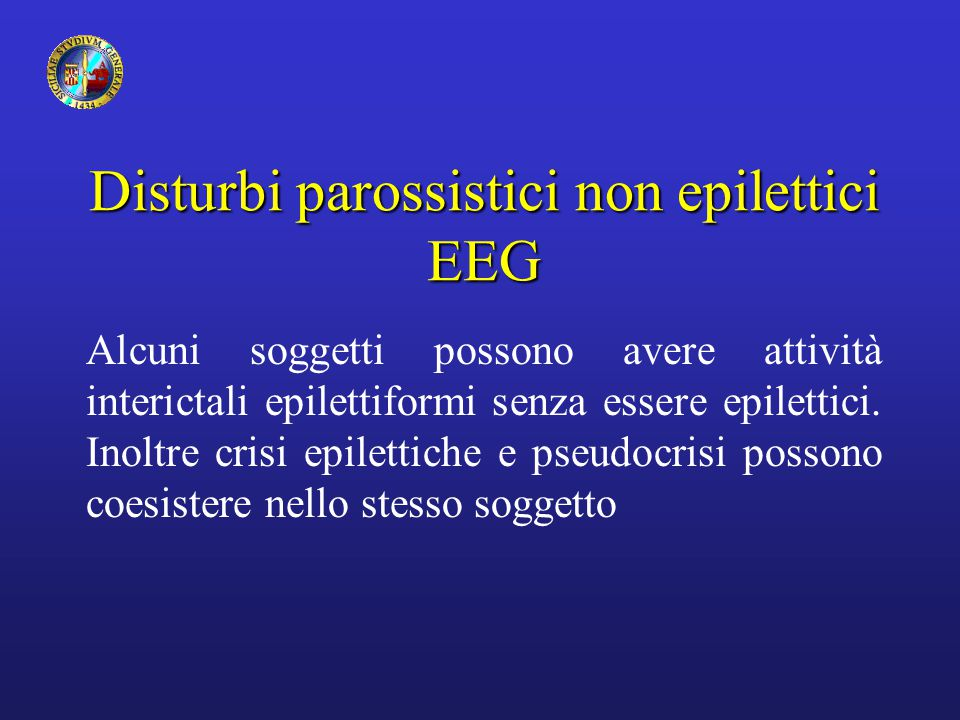 Disturbi parossistici non epilettici EEG