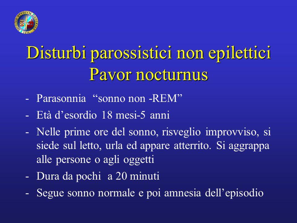 Disturbi parossistici non epilettici Pavor nocturnus