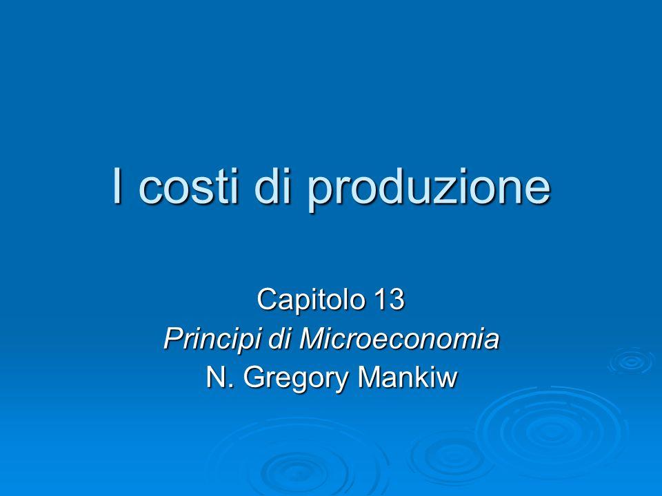 Capitolo 13 Principi di Microeconomia N. Gregory Mankiw