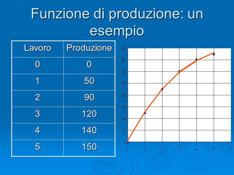 Funzione di produzione: un esempio