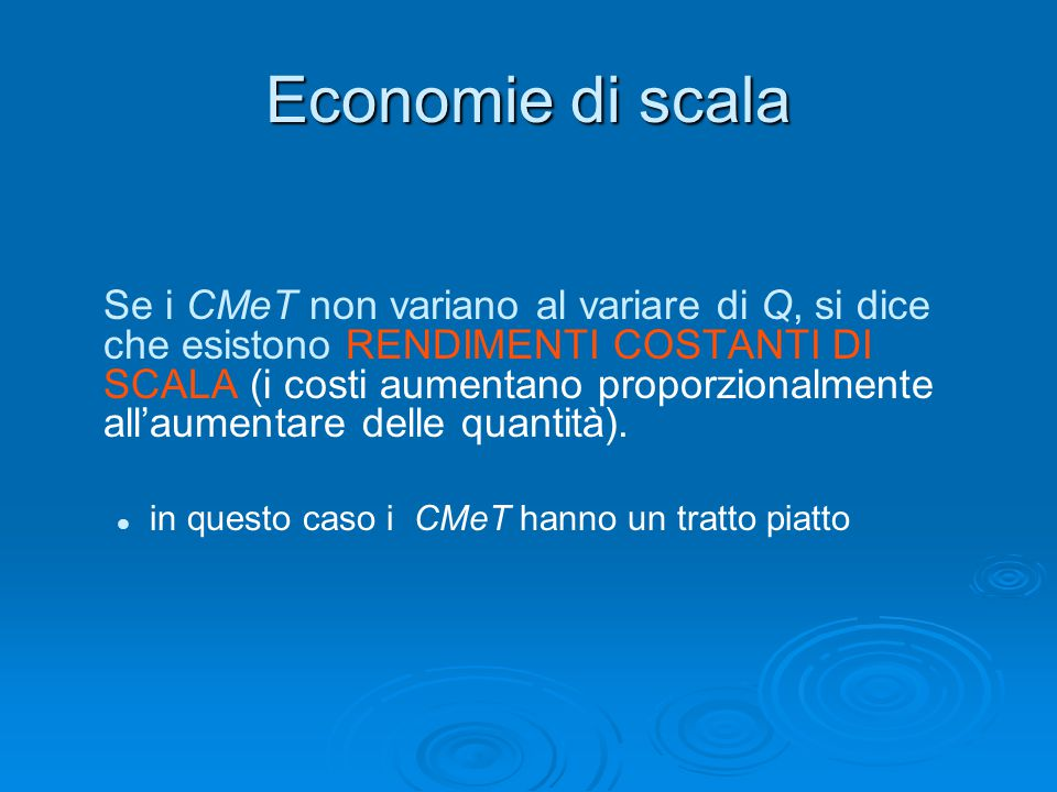 Economie di scala