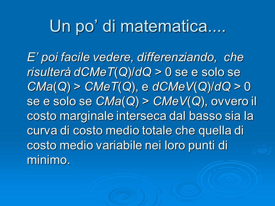 Un po' di matematica....