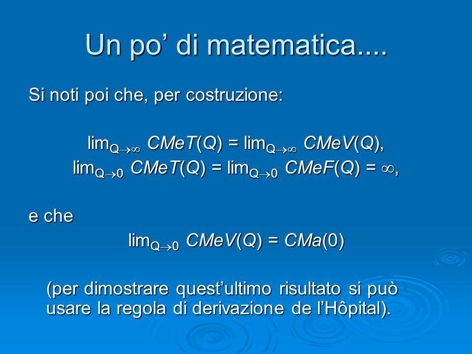 Un po' di matematica.... Si noti poi che, per costruzione: