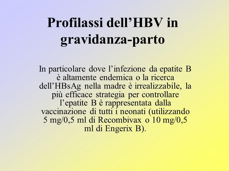 Profilassi dell'HBV in gravidanza-parto