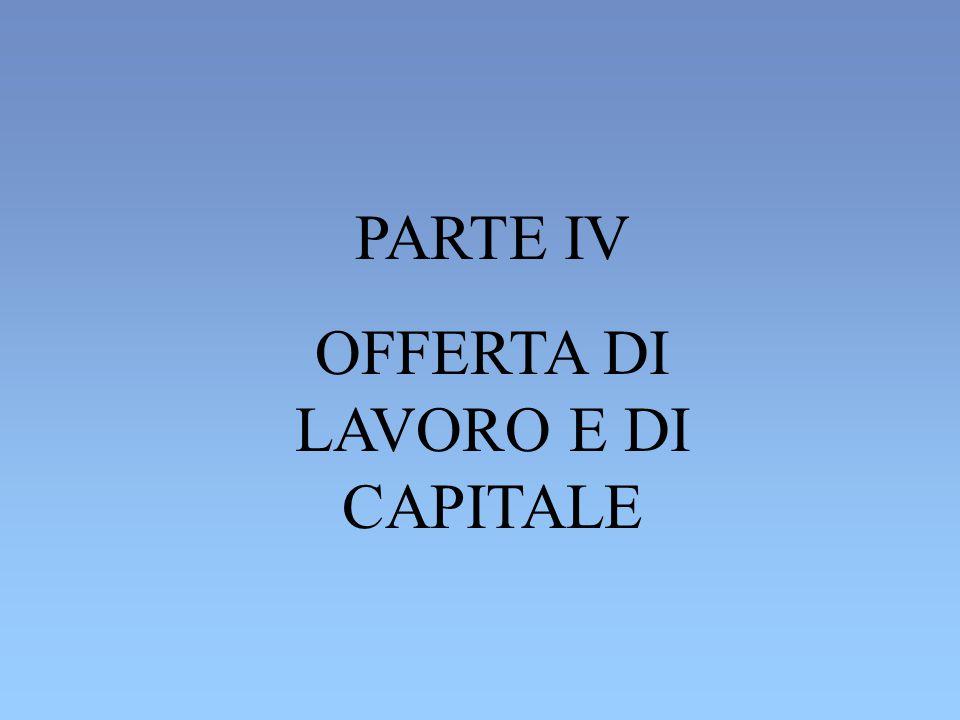 OFFERTA DI LAVORO E DI CAPITALE