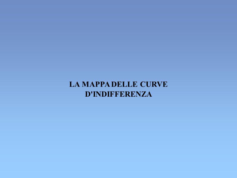 LA MAPPA DELLE CURVE D INDIFFERENZA