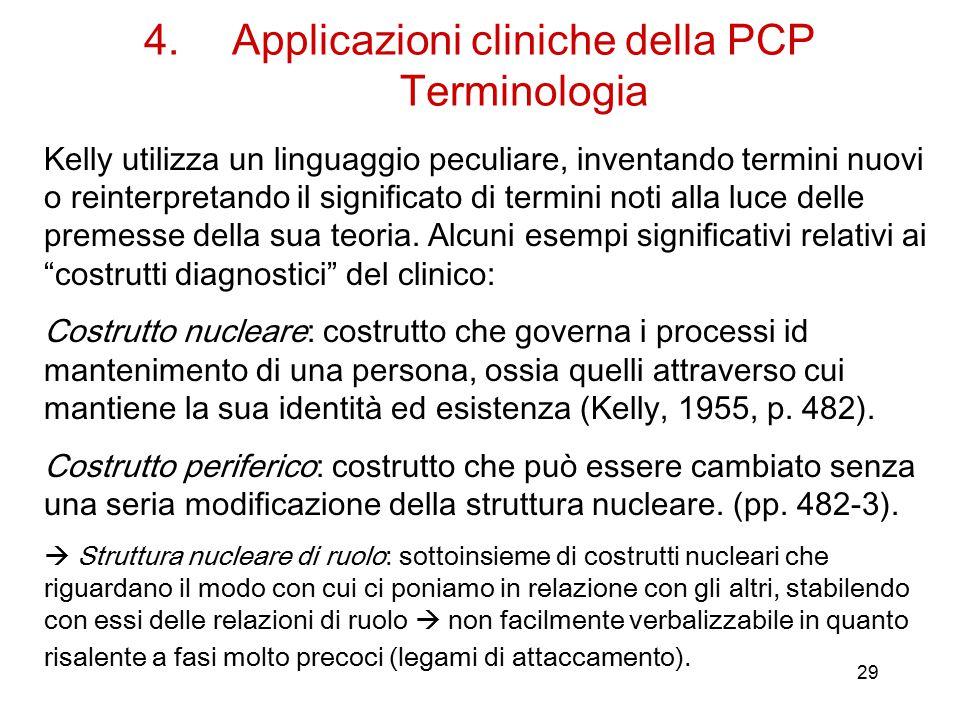 Applicazioni cliniche della PCP Terminologia