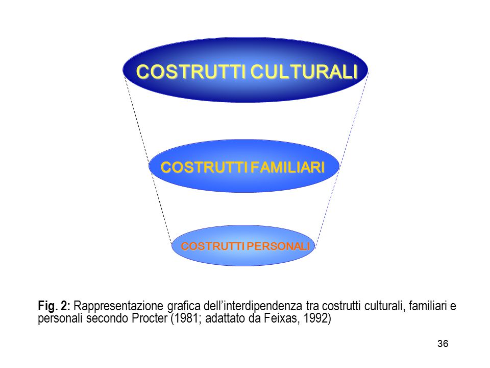 COSTRUTTI CULTURALI COSTRUTTI FAMILIARI