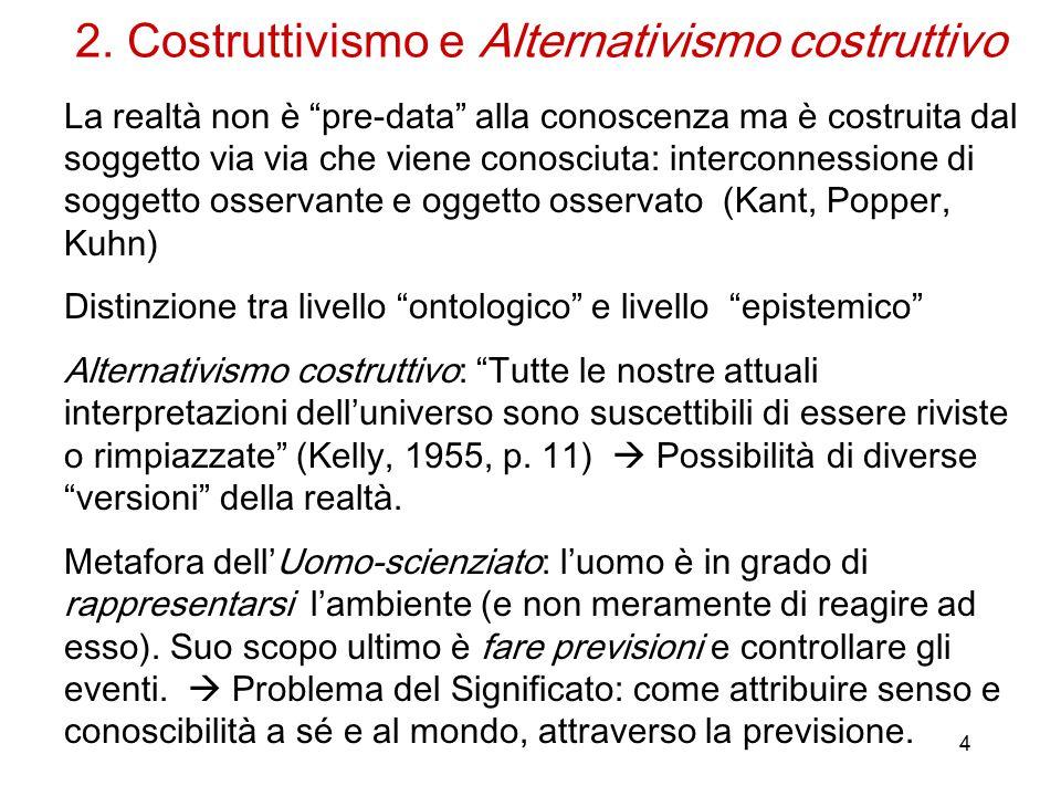 2. Costruttivismo e Alternativismo costruttivo