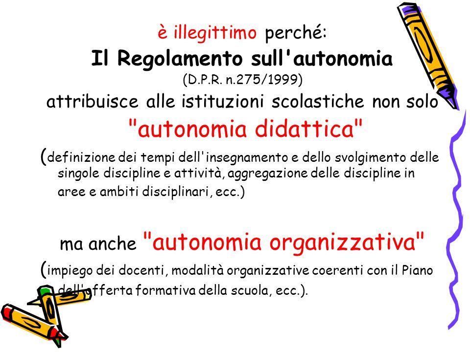 Il Regolamento sull autonomia