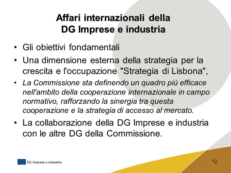 Affari internazionali della DG Imprese e industria