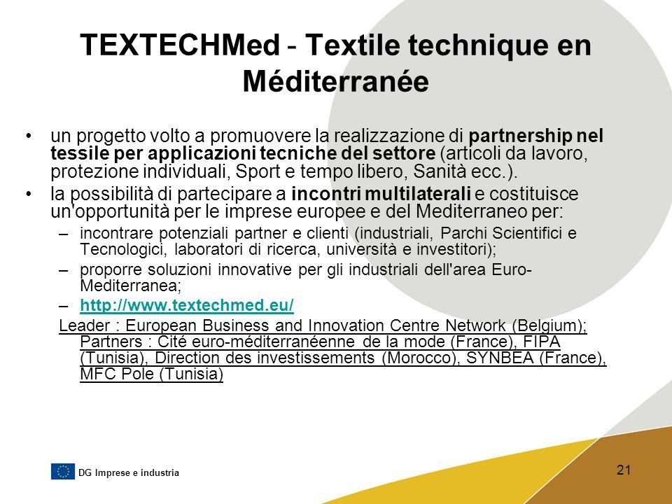 TEXTECHMed - Textile technique en Méditerranée