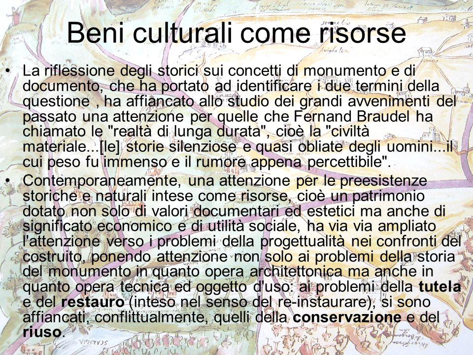 Beni culturali come risorse