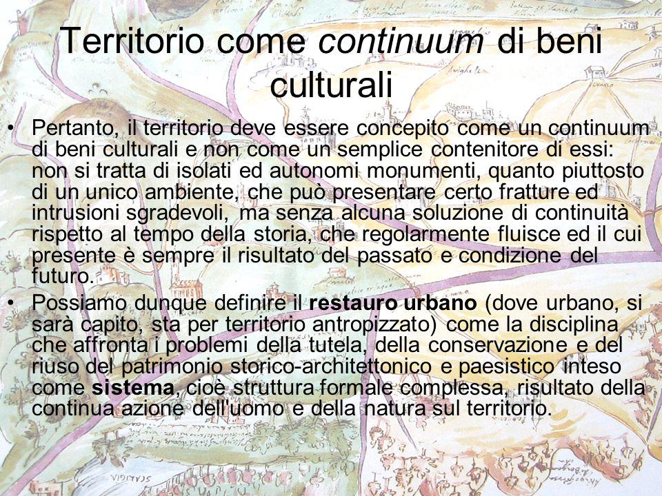 Territorio come continuum di beni culturali