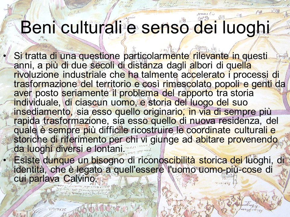 Beni culturali e senso dei luoghi