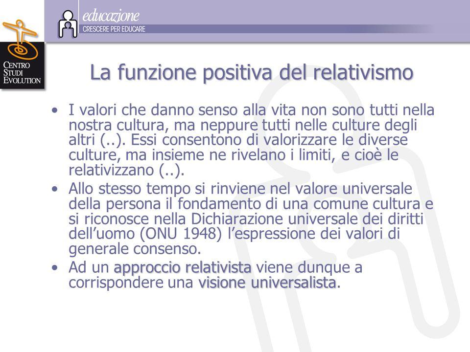 La funzione positiva del relativismo