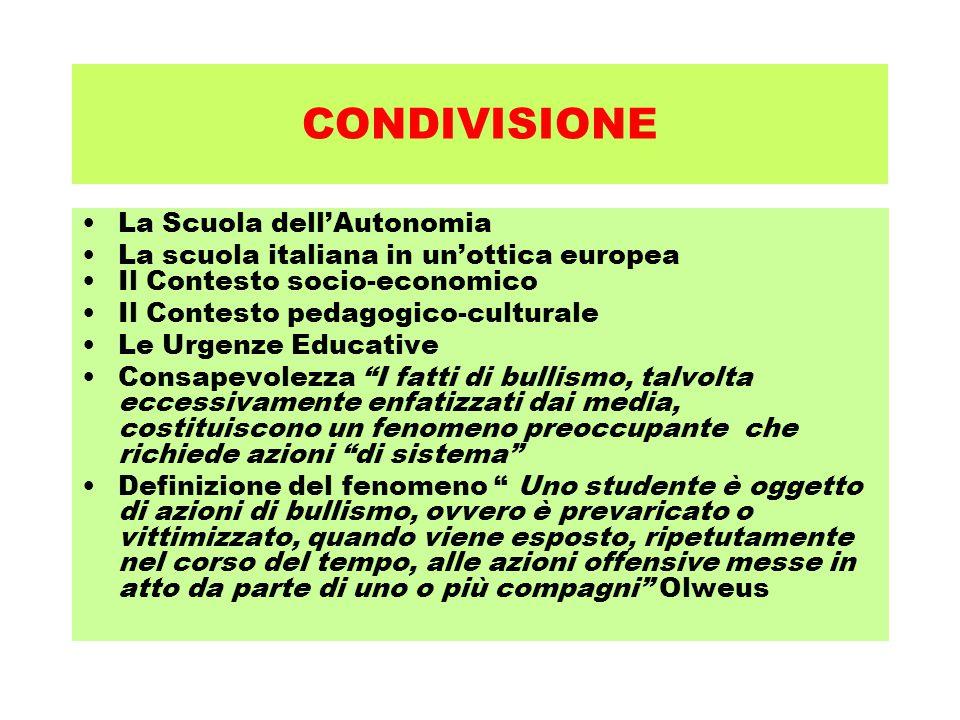 CONDIVISIONE La Scuola dell'Autonomia