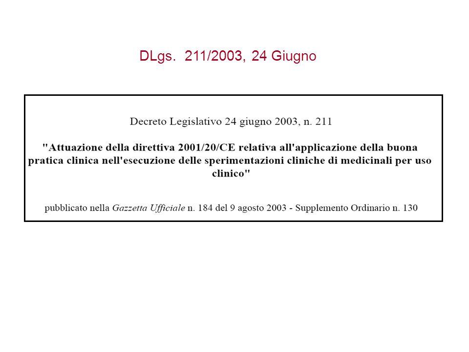 DLgs. 211/2003, 24 Giugno