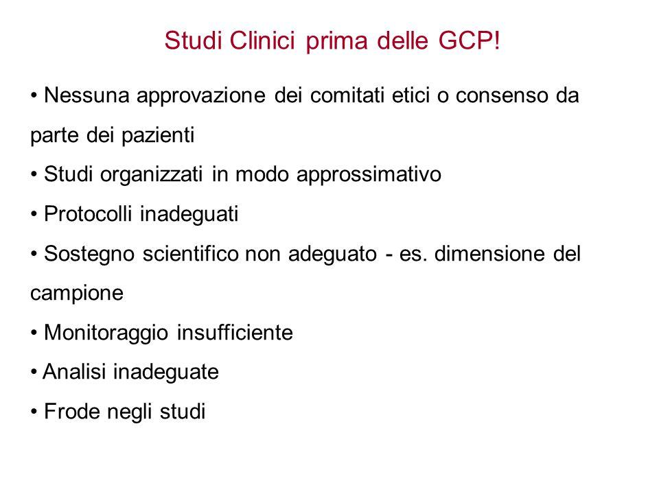 Studi Clinici prima delle GCP!