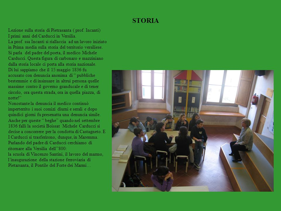 STORIA Lezione sulla storia di Pietrasanta ( prof. Incanti)