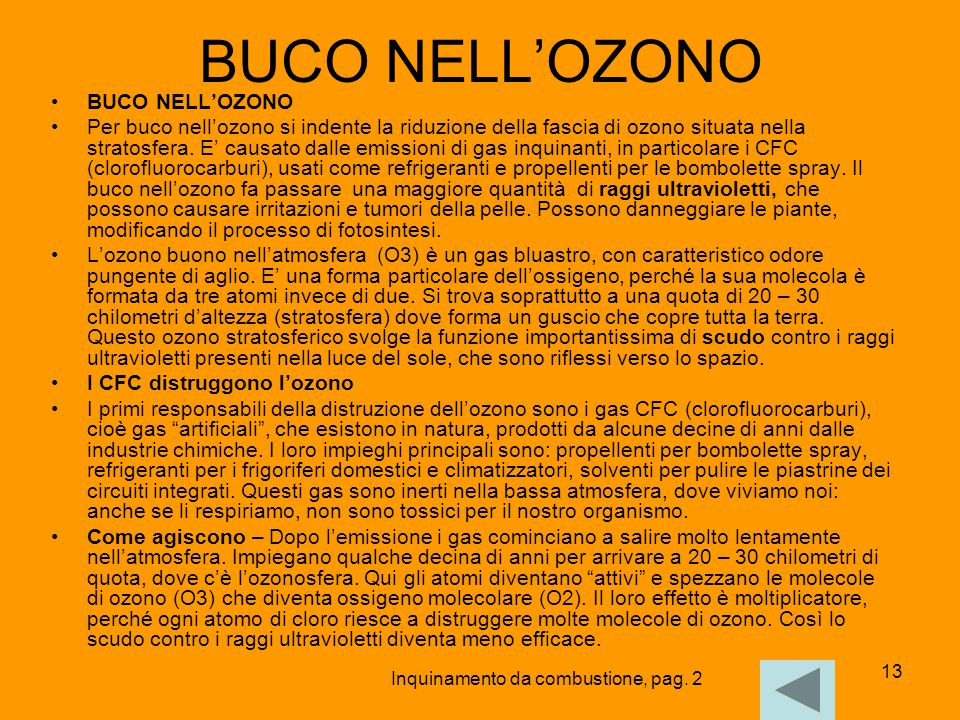 BUCO NELL'OZONO BUCO NELL'OZONO