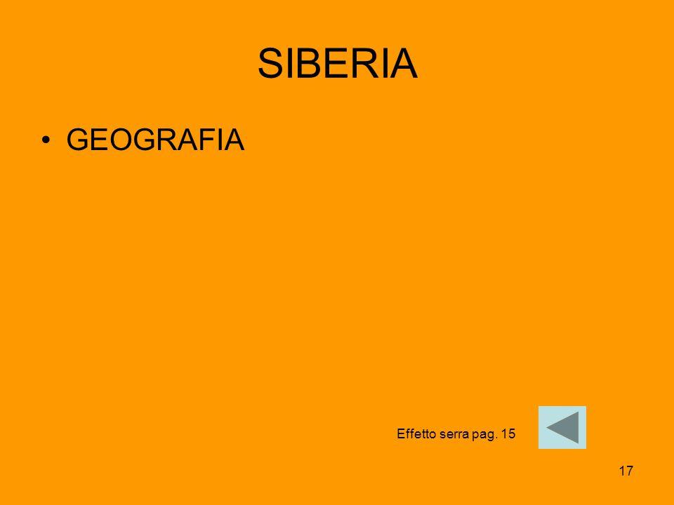 SIBERIA GEOGRAFIA Effetto serra pag. 15