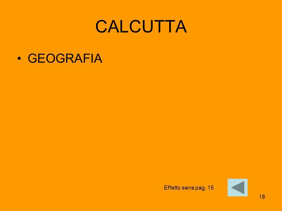 CALCUTTA GEOGRAFIA Effetto serra pag. 15