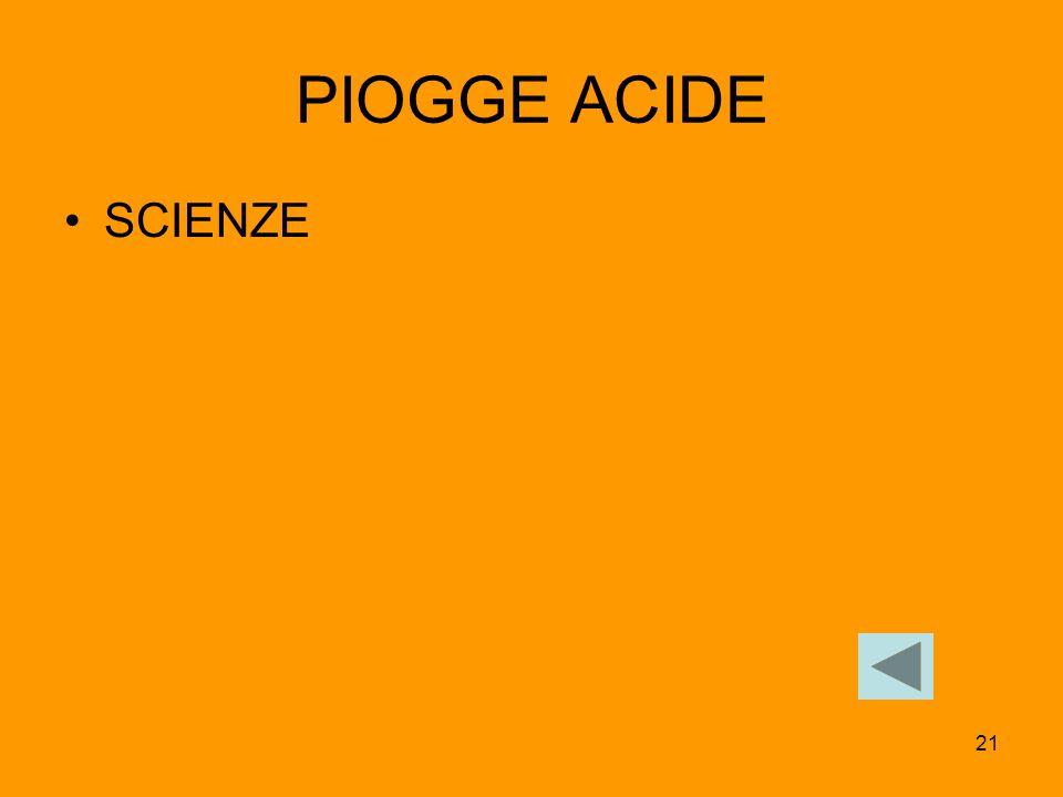 PIOGGE ACIDE SCIENZE