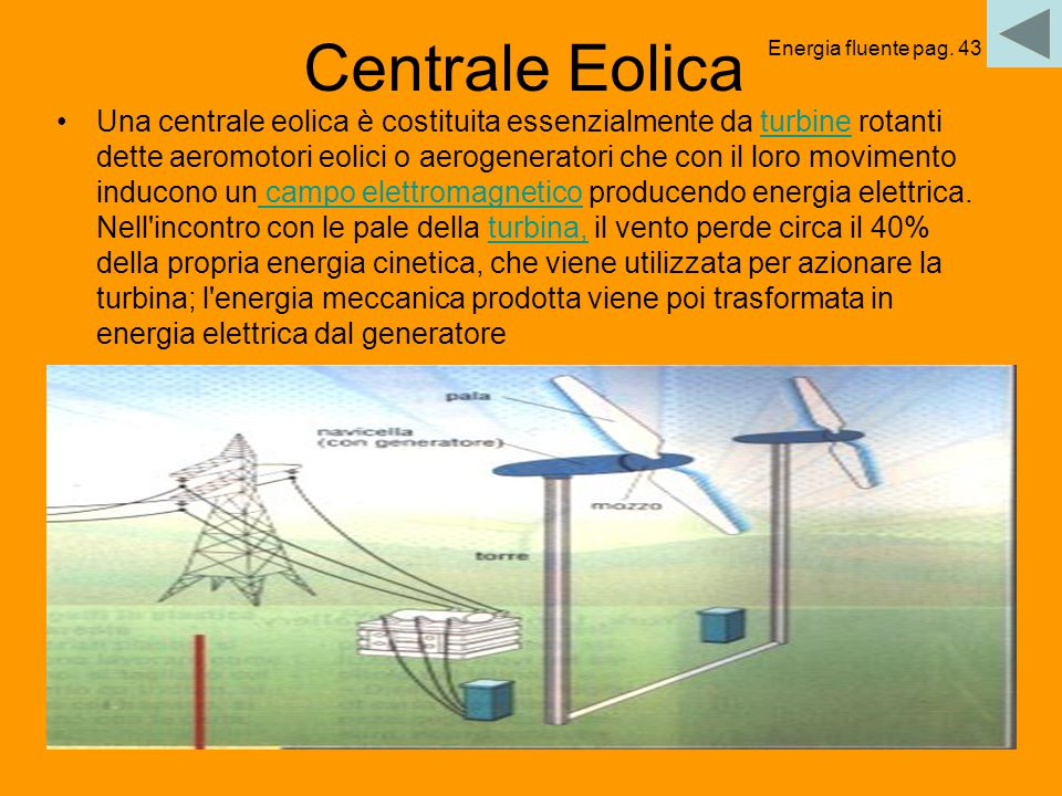 Centrale Eolica Energia fluente pag. 43.
