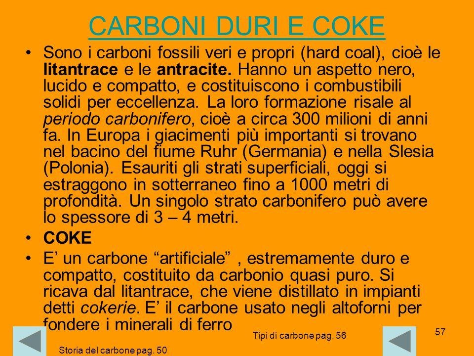 CARBONI DURI E COKE