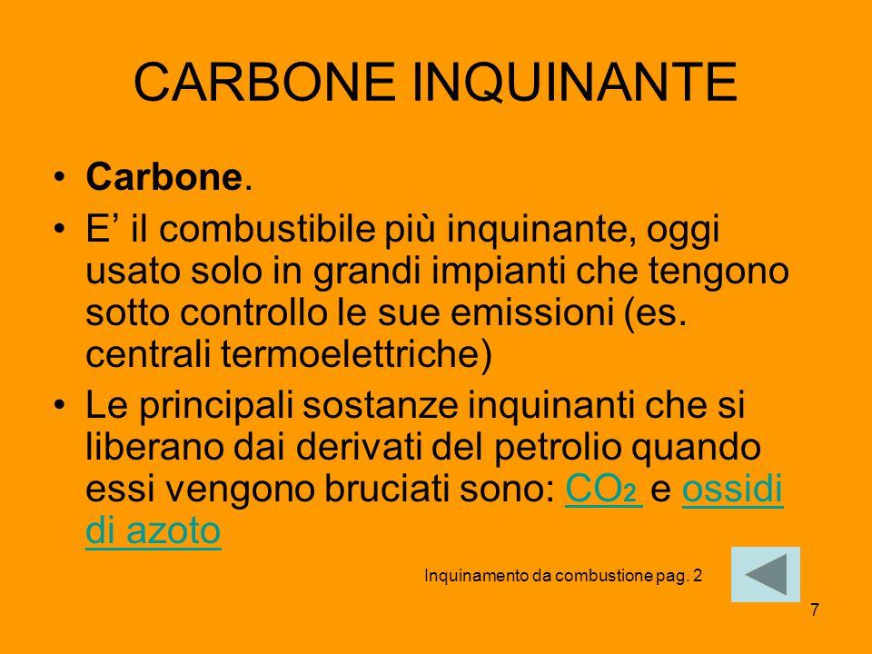 CARBONE INQUINANTE Carbone.