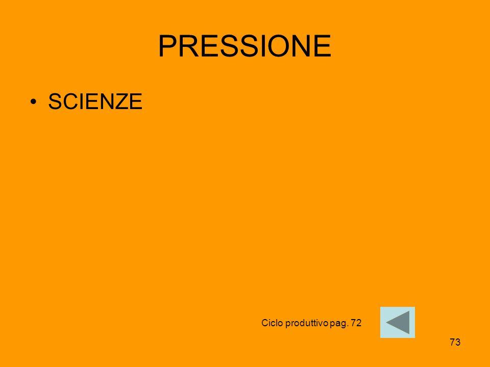 PRESSIONE SCIENZE Ciclo produttivo pag. 72