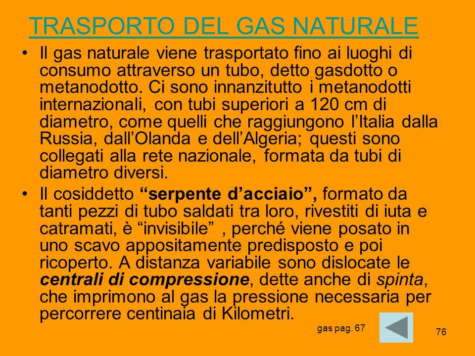 TRASPORTO DEL GAS NATURALE