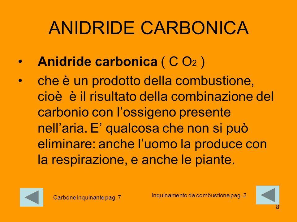 ANIDRIDE CARBONICA Anidride carbonica ( C O2 )